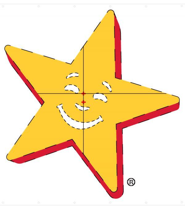Hardees Star Template