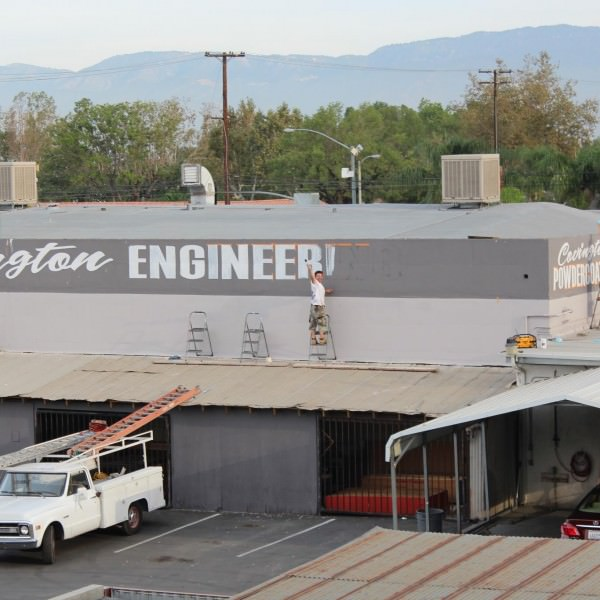 Covington Engineering Lettering