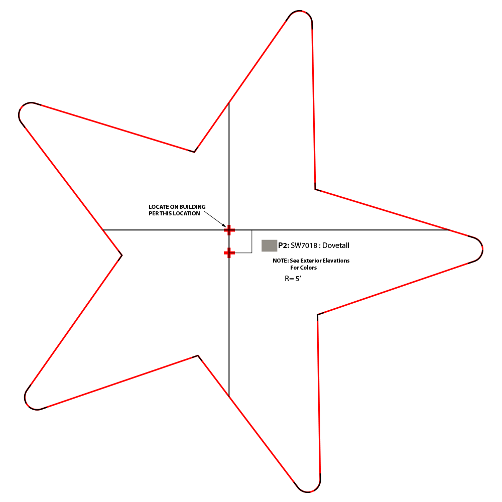 Hardees Star Template