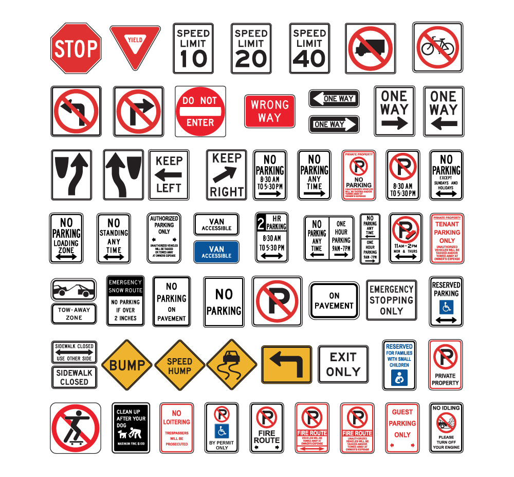 information & directional signs