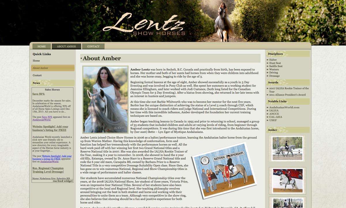 Lentz Show Horses